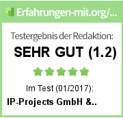 IP-Projects GmbH & Co. KG Testergebnis der Redaktion
